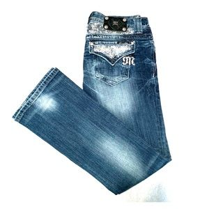 Miss Me Jeans Size 27 Easy Bootcut EUC!